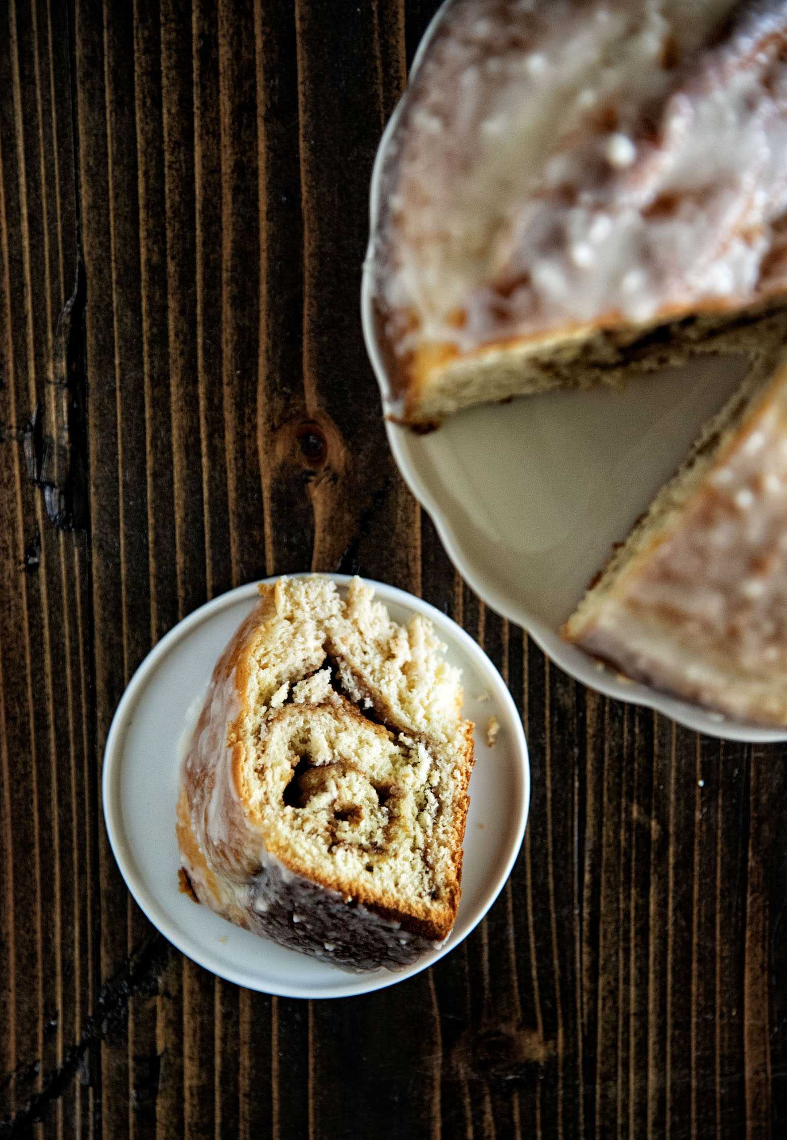 Apple Cider Cinnamon Roll Loaf