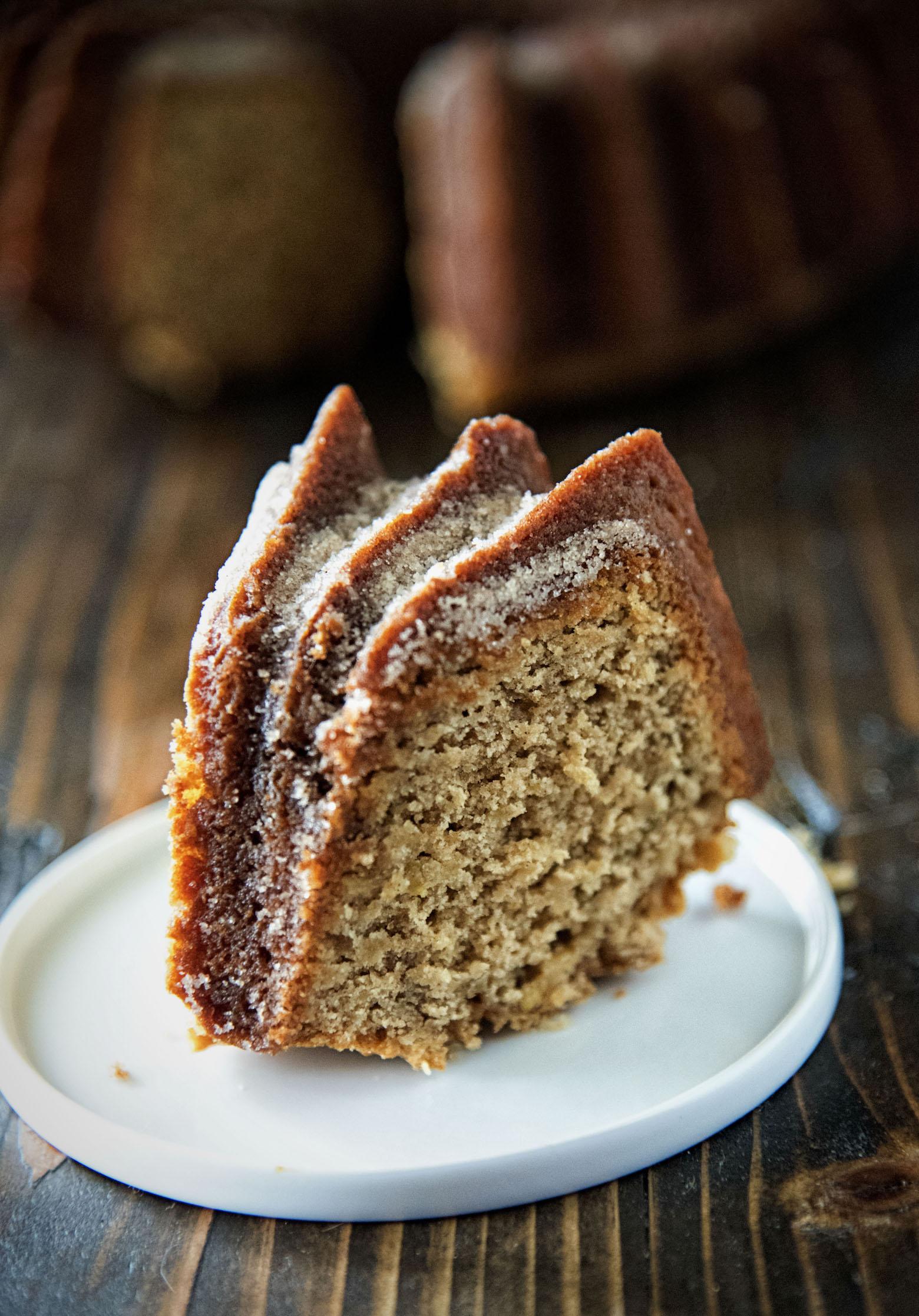 Whiskey Glazed Apple Buttermilk Pound Cake