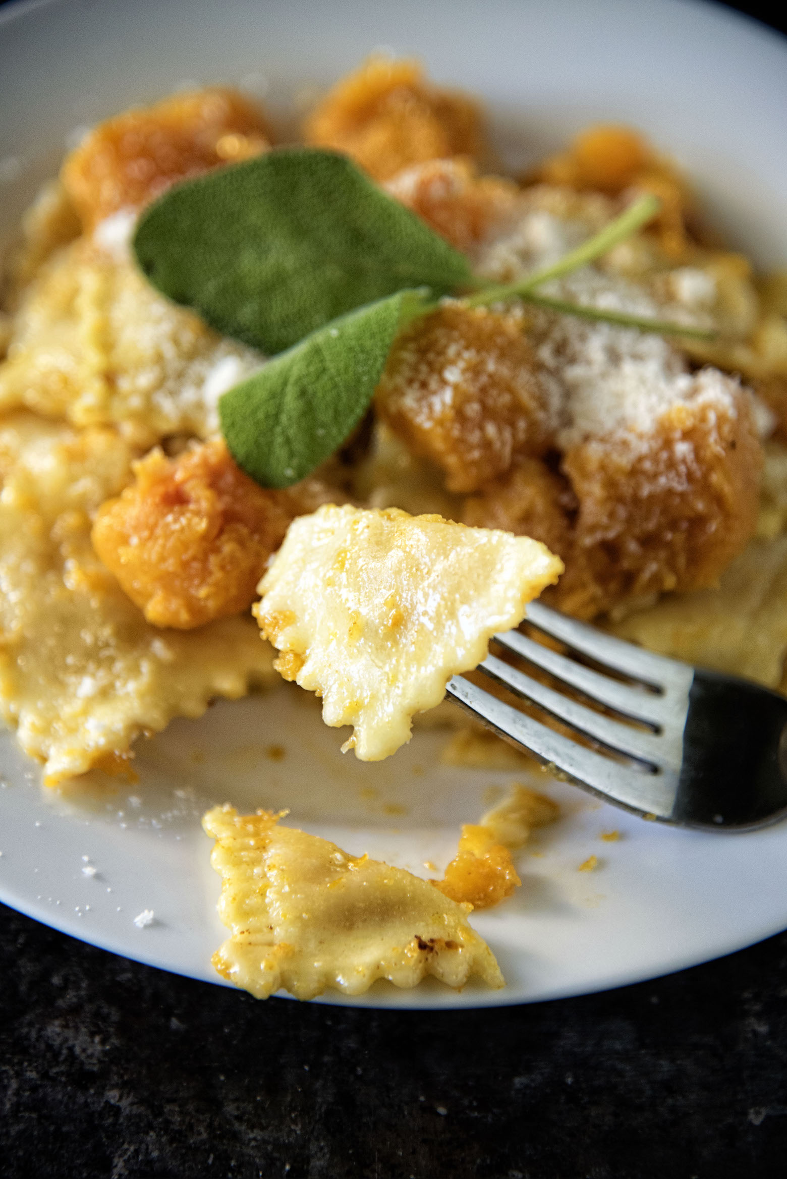 Brown Butter Sage Butternut Squash Cheese Ravioli