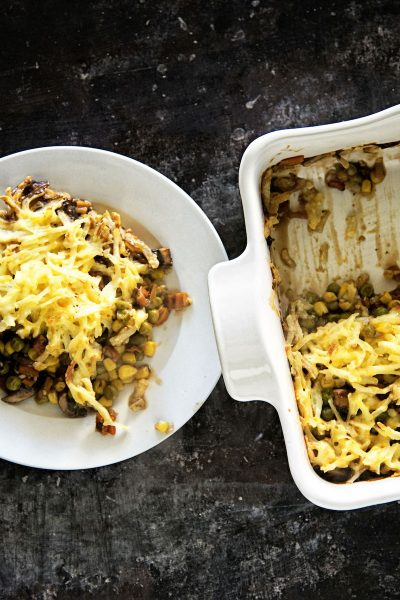 Cheesy Hash Brown Topped Vegetarian Shepherds Pie