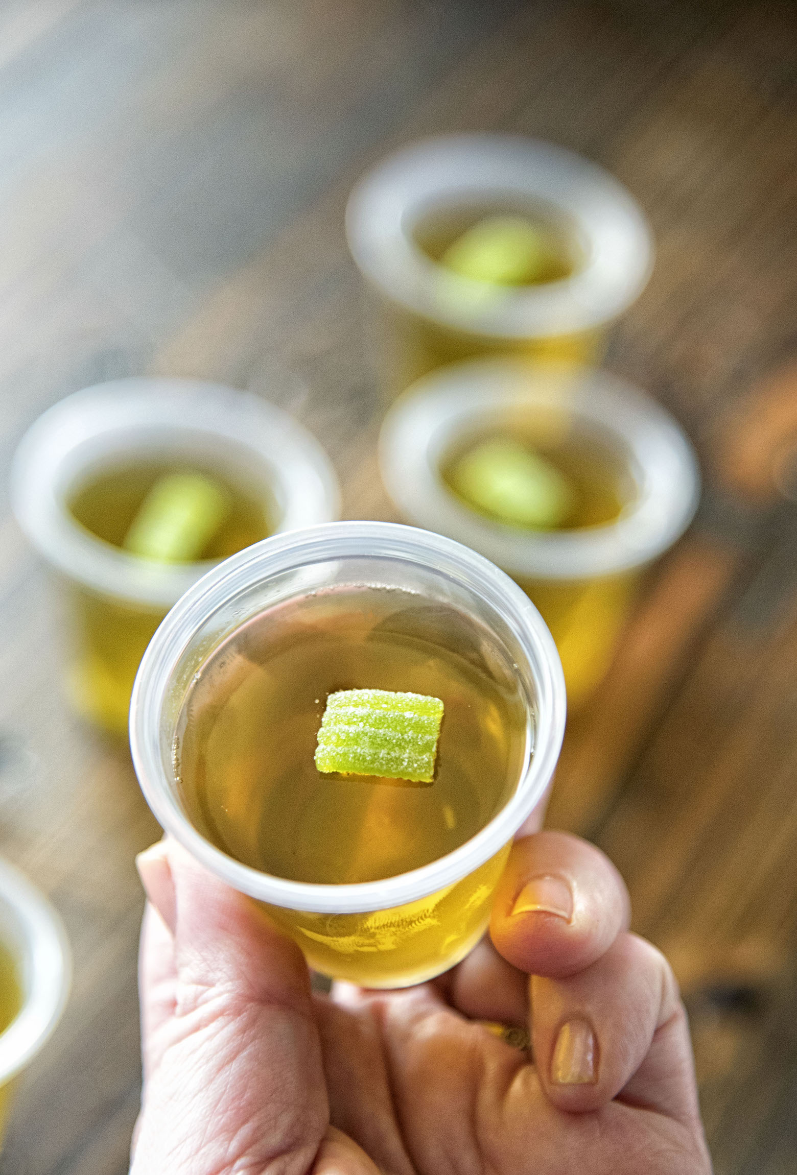 Fireball Apple Cider Jell-O Shots