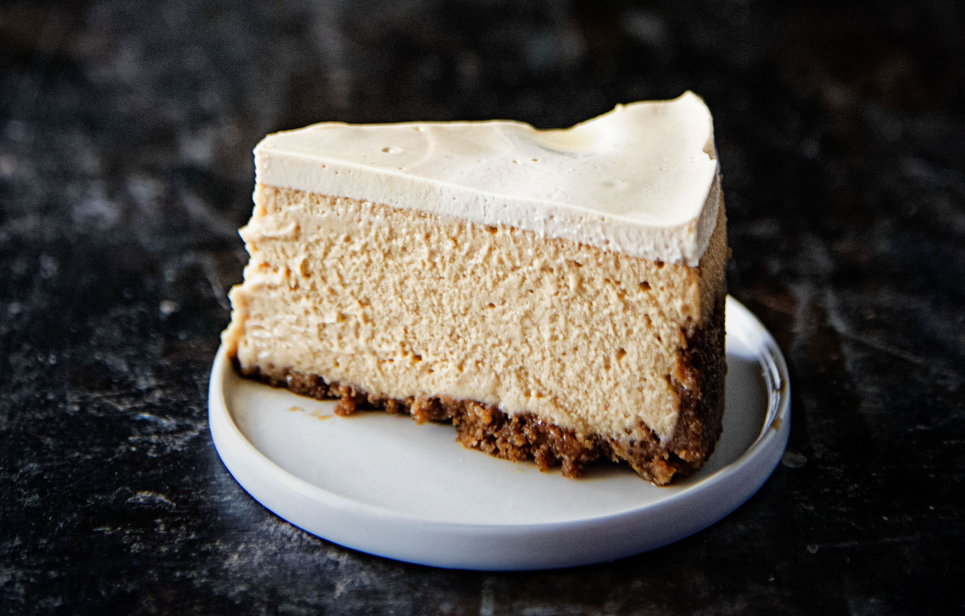 Fireball Sour Cream Topped Brown Sugar Cheesecake