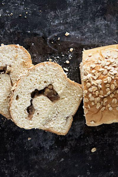 Honey Pear Jam Walnut Swirl Bread