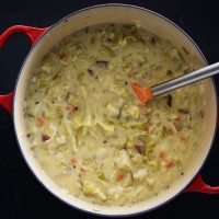 Vegetarian Creamy Cabbage Potato Soup