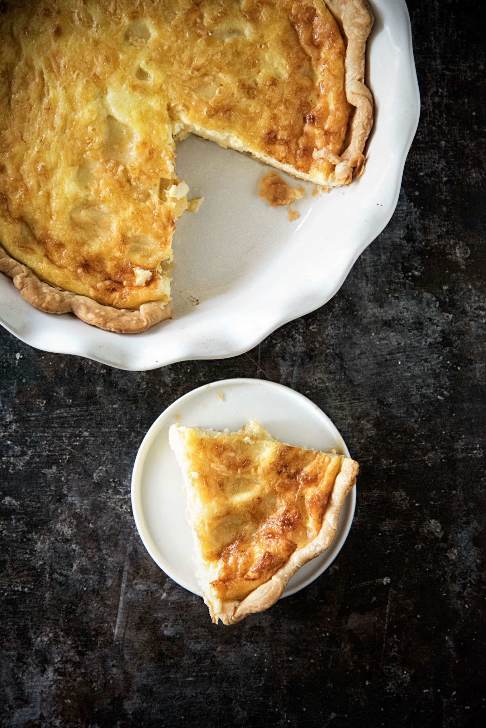 Vegetarian Gruyere Aged Smoked Gouda Caramelized Onion Quiche