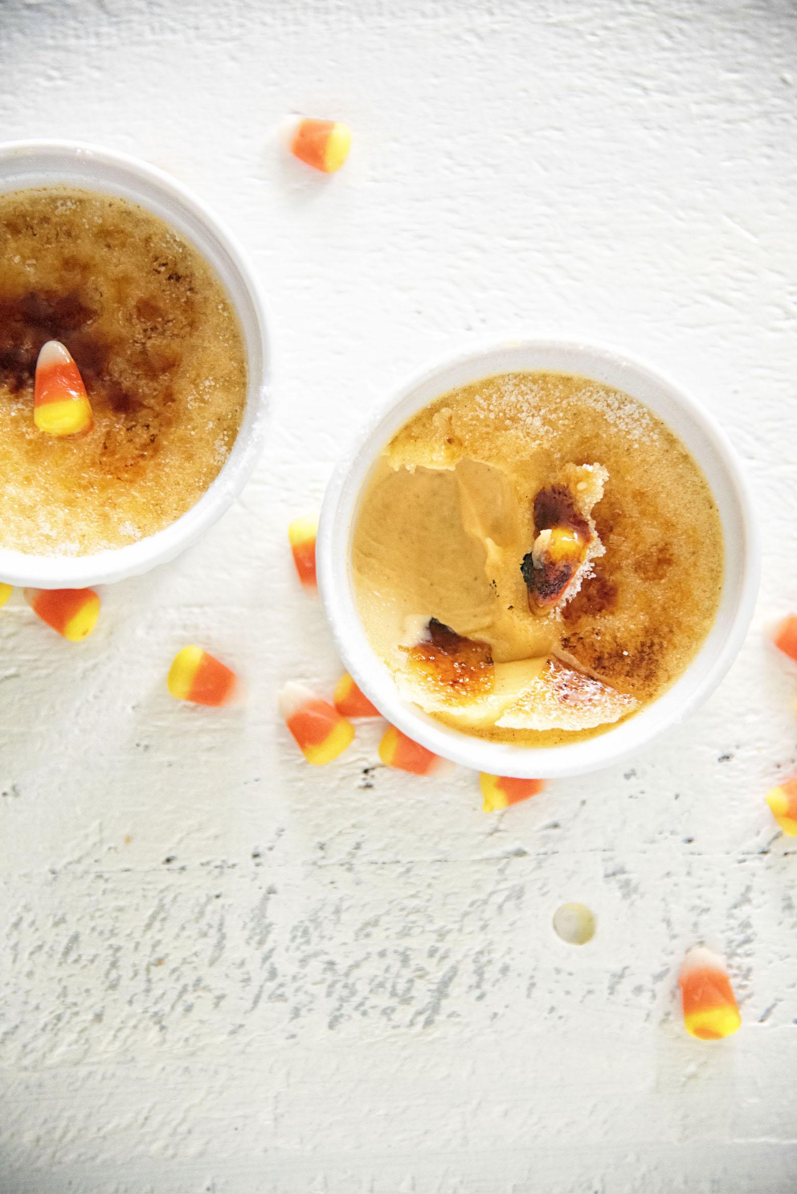 Candy Corn Creme Brûlée