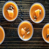 Orange Maple Pecan Bourbon Jell-O Shots