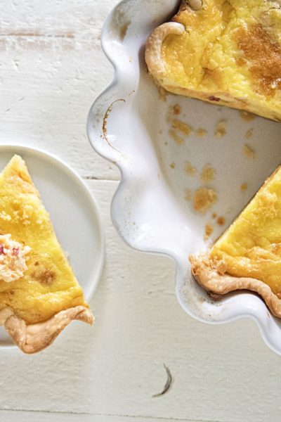 Pimento Cheese and Cornbread Quiche