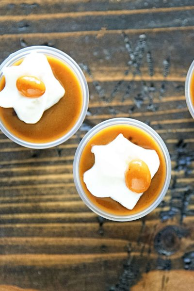 Pumpkin Spice Latte Pudding Shots