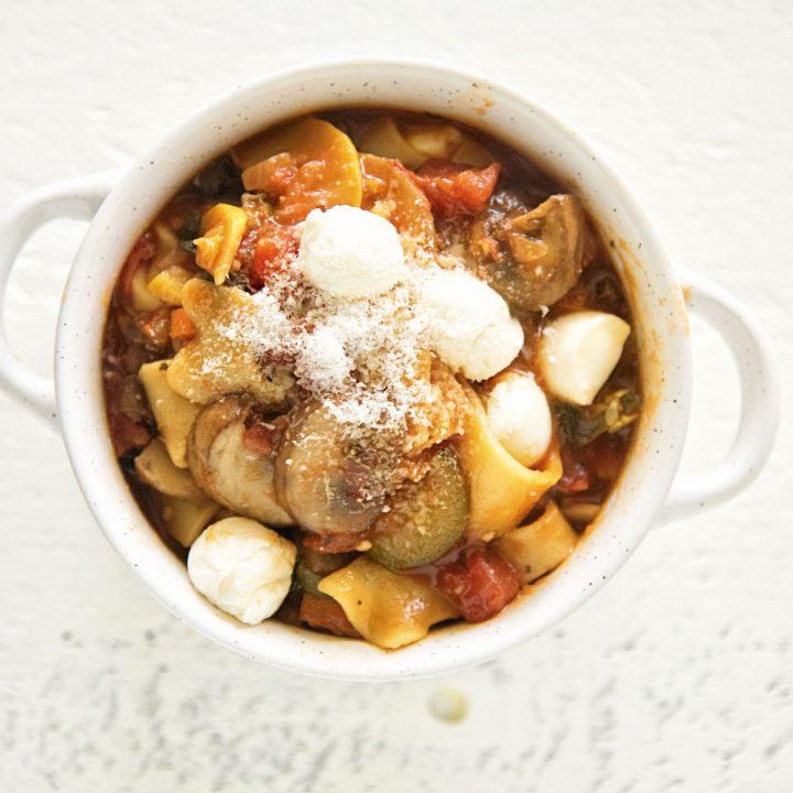 Vegetarian Lasagna Stew