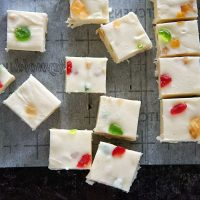 Bourbon Fruitcake Fudge