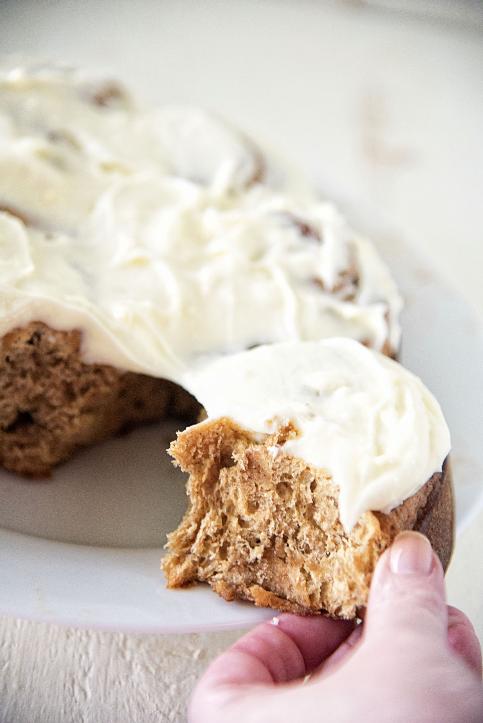 Cream Cheese Frosted Gingerbread Sweet Rolls