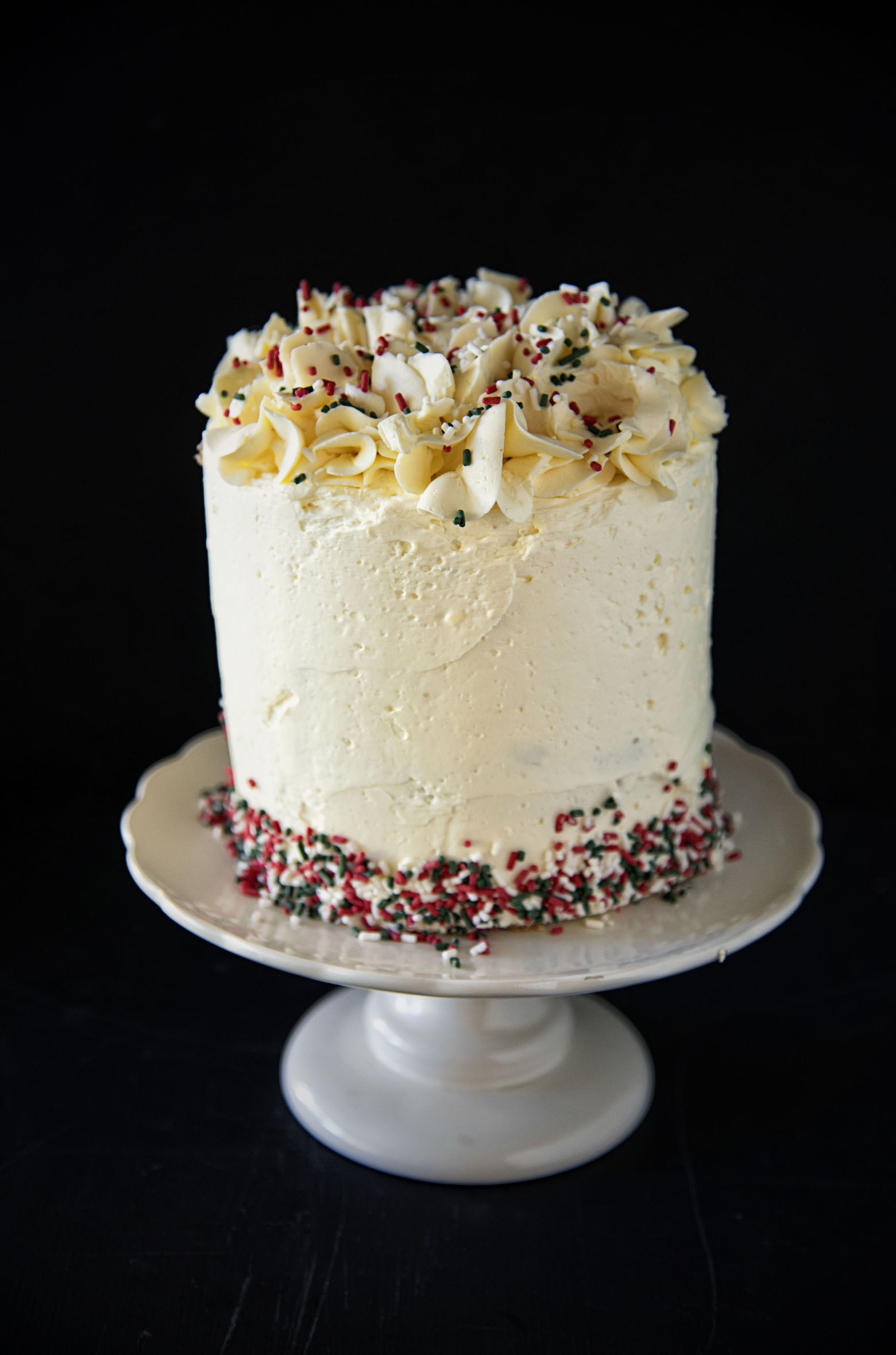 Eggnog Spiced Rum Layer Cake