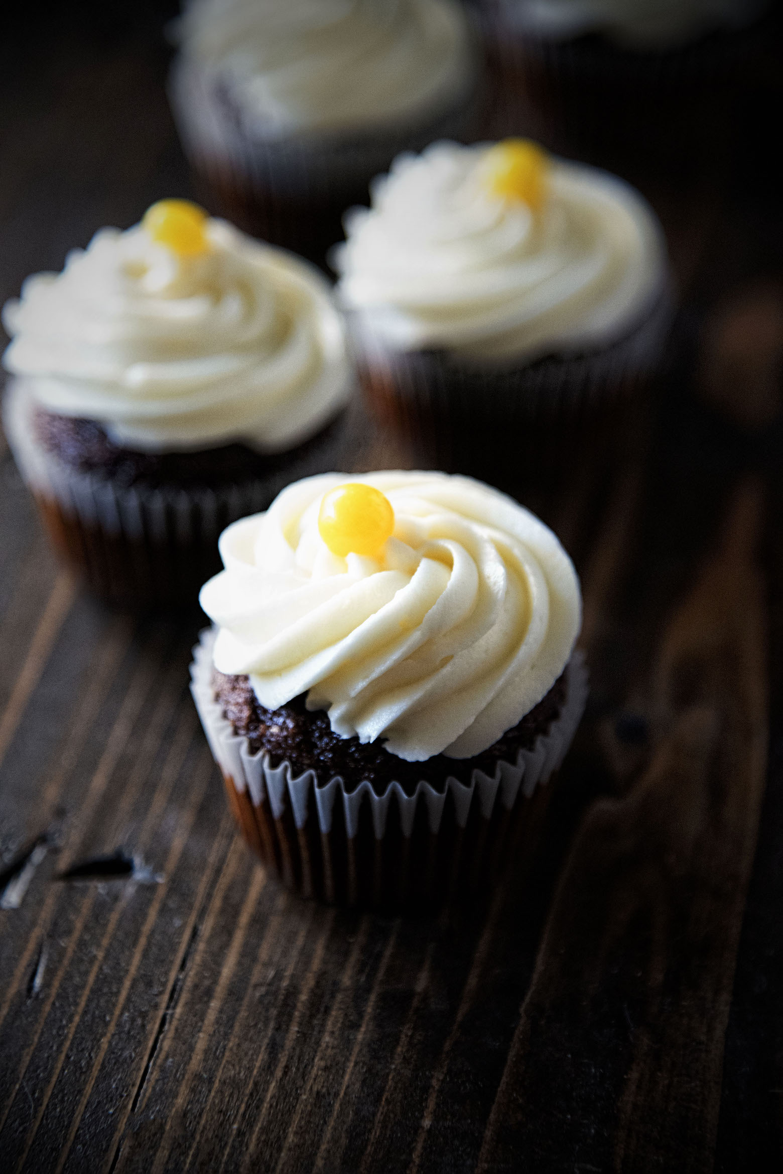 Lemon Cream Cheese Gingerbread Cupcakes