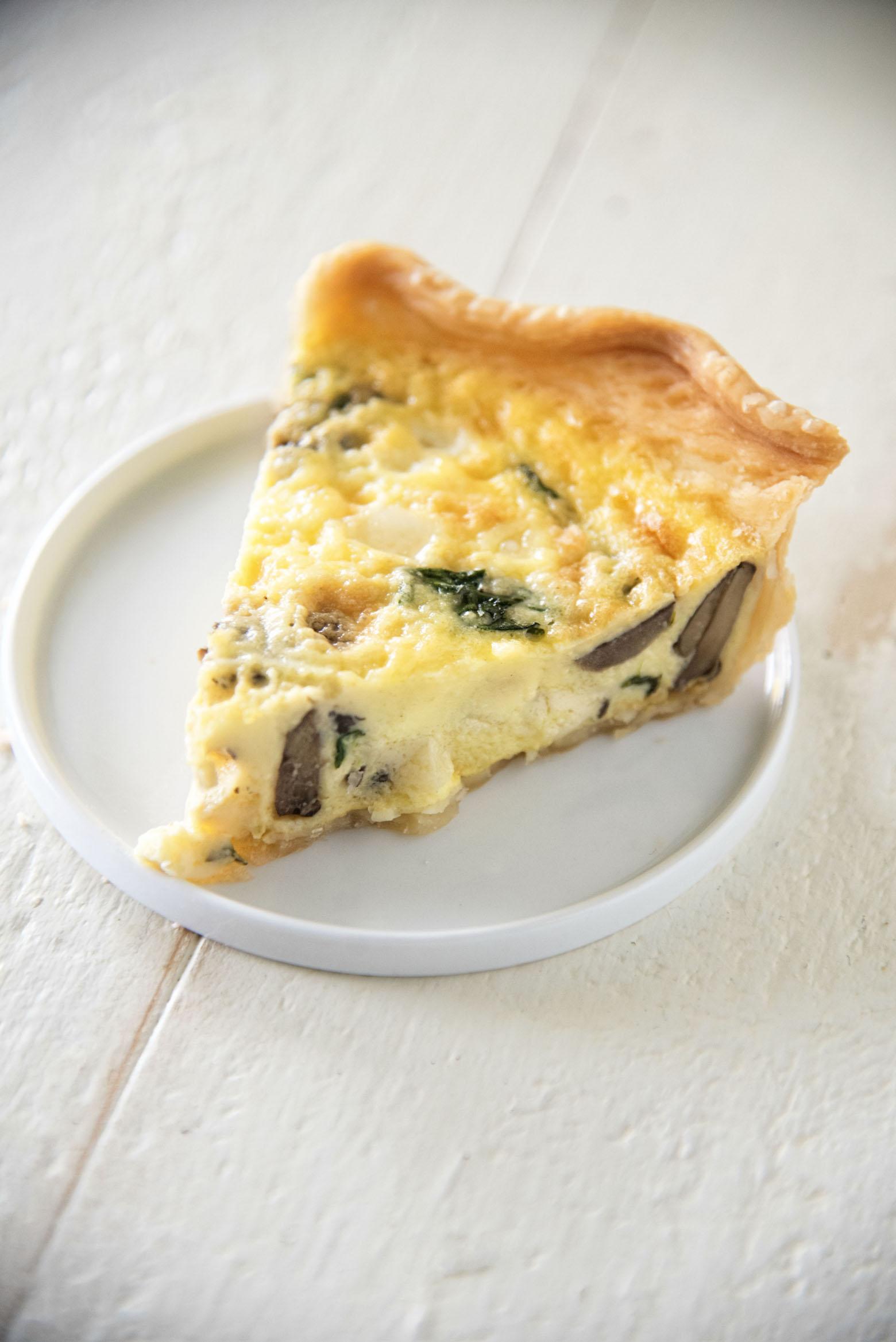 Vegetarian Spinach Mushroom Quiche