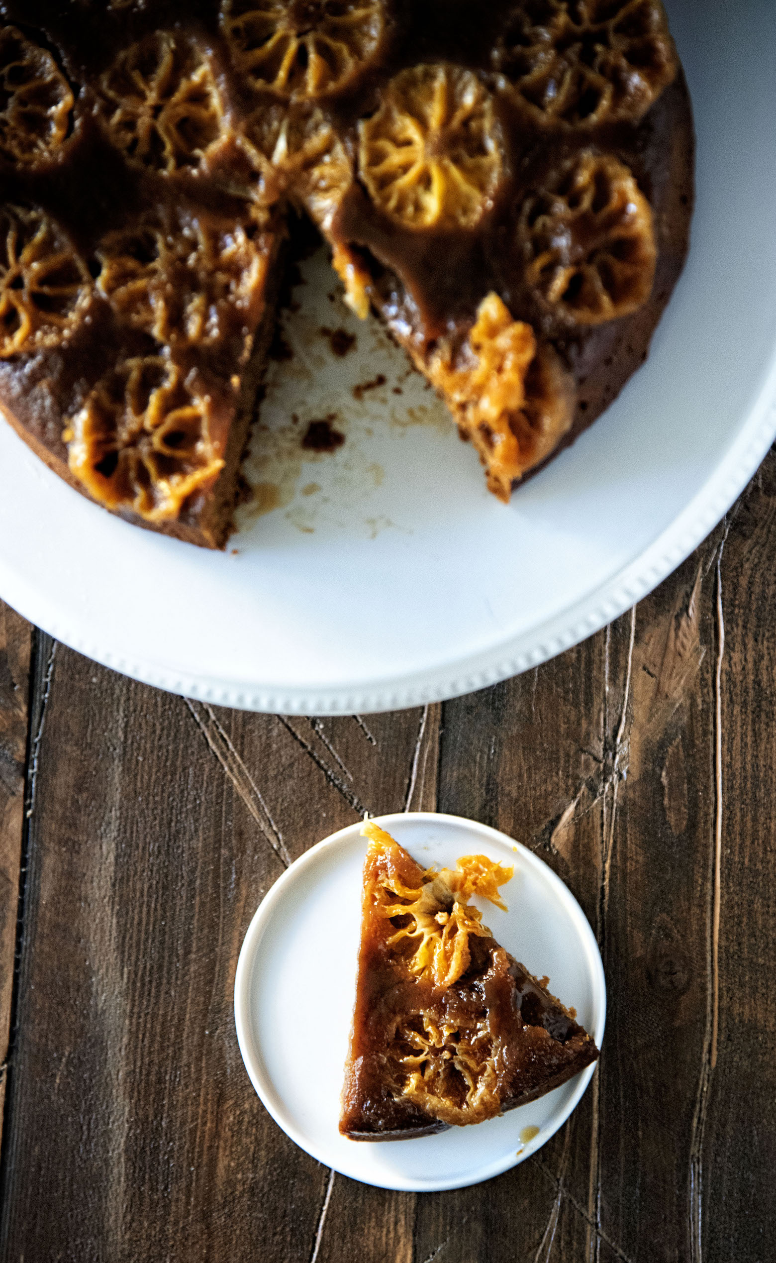 Clementine Upside Down Gingerbread Cake