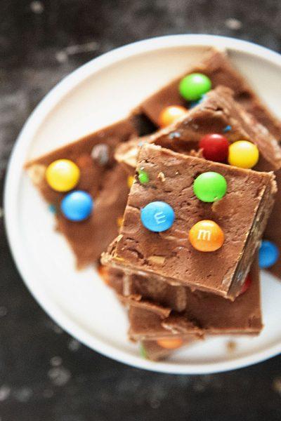 Monster Cookie Chocolate Fudge