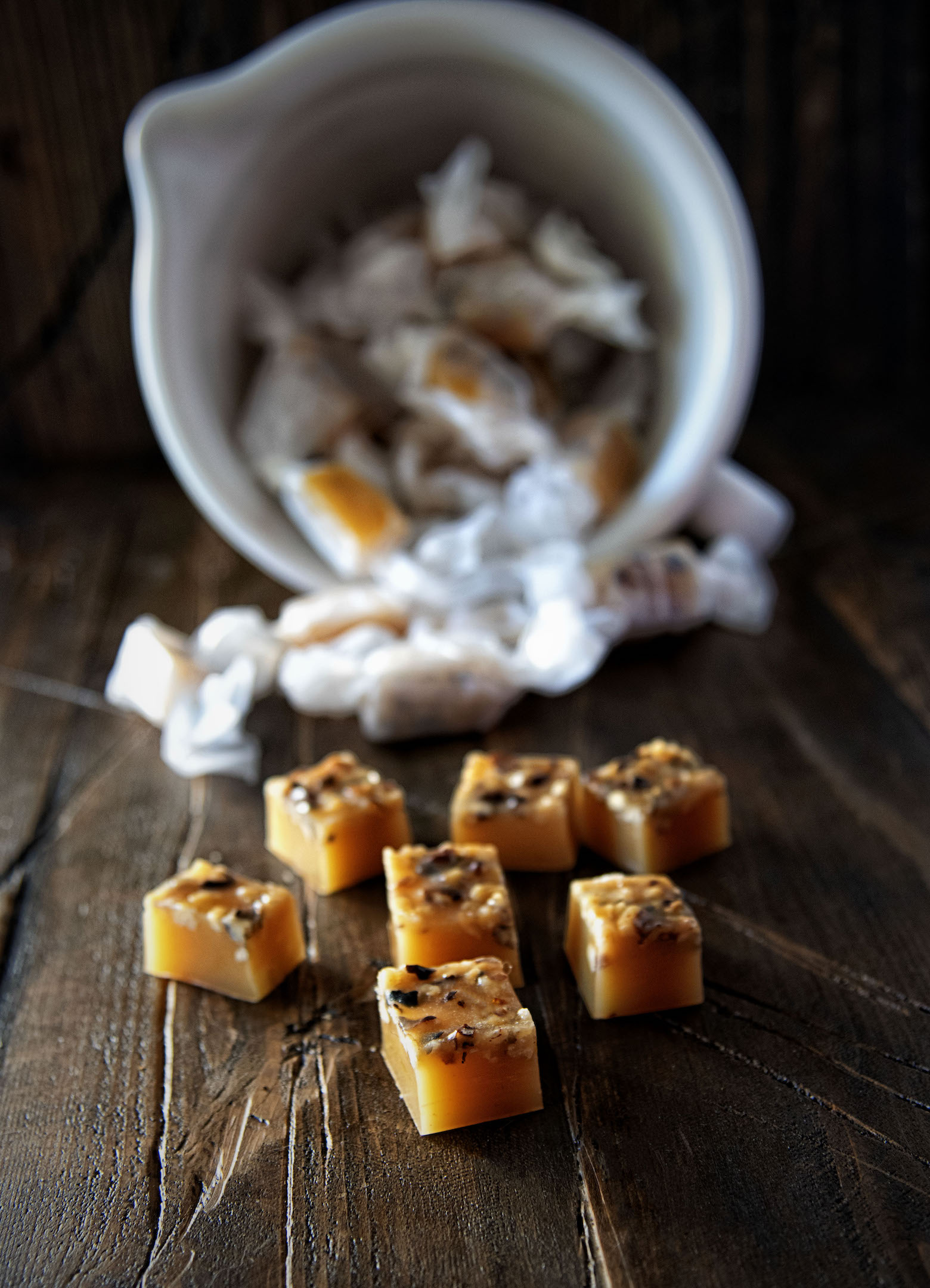 Orange Walnut Caramels