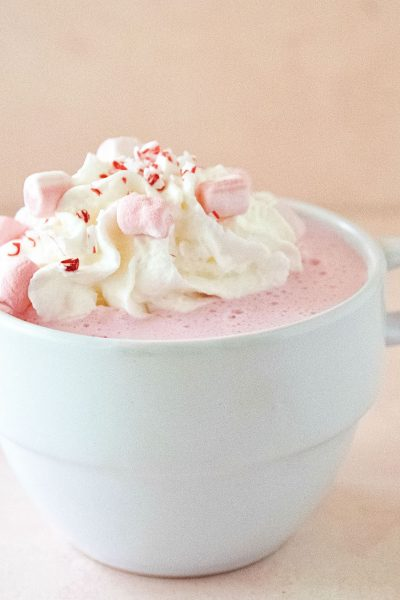 Spiked Candy Cane White Hot Chocolate