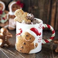 Spiked Gingerbread Hot Chocolate