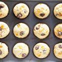 Chocolate Candied Orange Peel Sour Cream Muffins