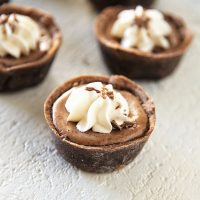 Mini Bailey's Irish Cream Mocha Cheesecake Tarts
