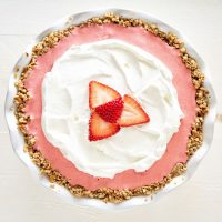 Strawberry Cream Cheese Pretzel Pie