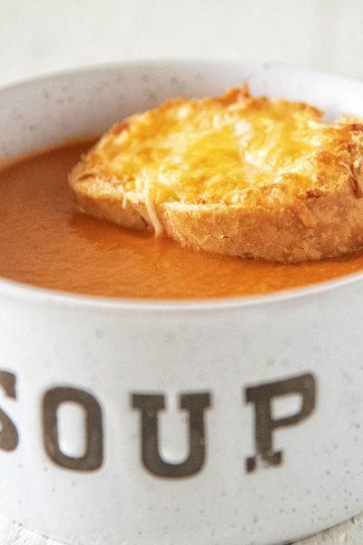 Vegetarian Tomato Cheddar Soup