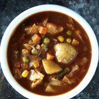 Vegetarian Vegetable No-Beef Soup