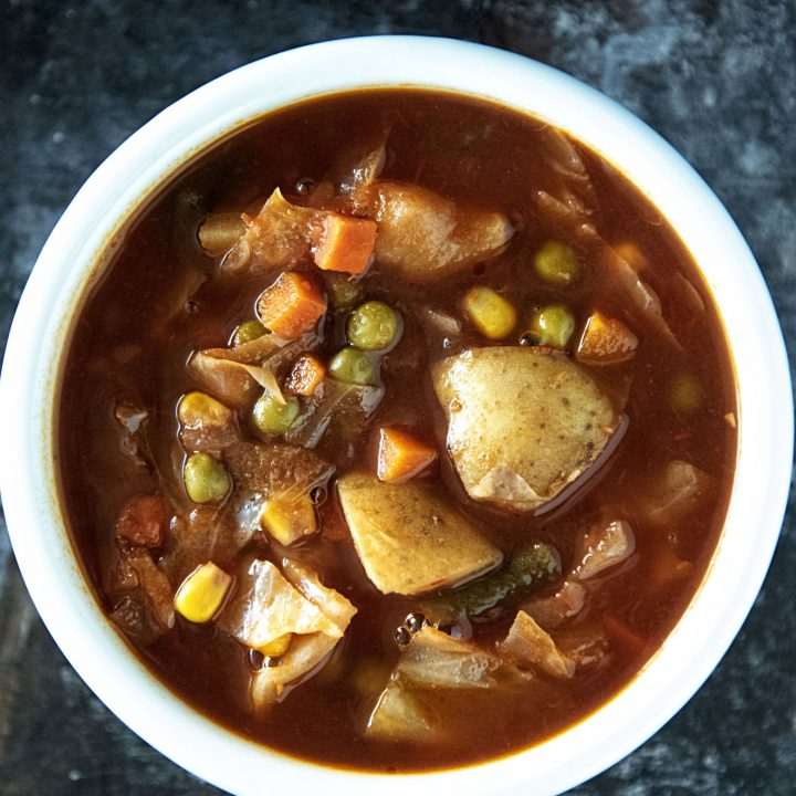 Vegetarian Vegetable No-Beef Soup