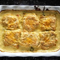 Broccoli Cheese Biscuit Cobbler