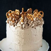 Chocolate Peanut Butter Stout Layer Cake