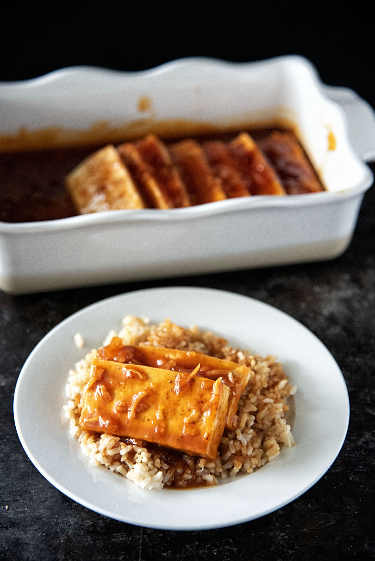 Easy Sweet Sour Apricot Tofu