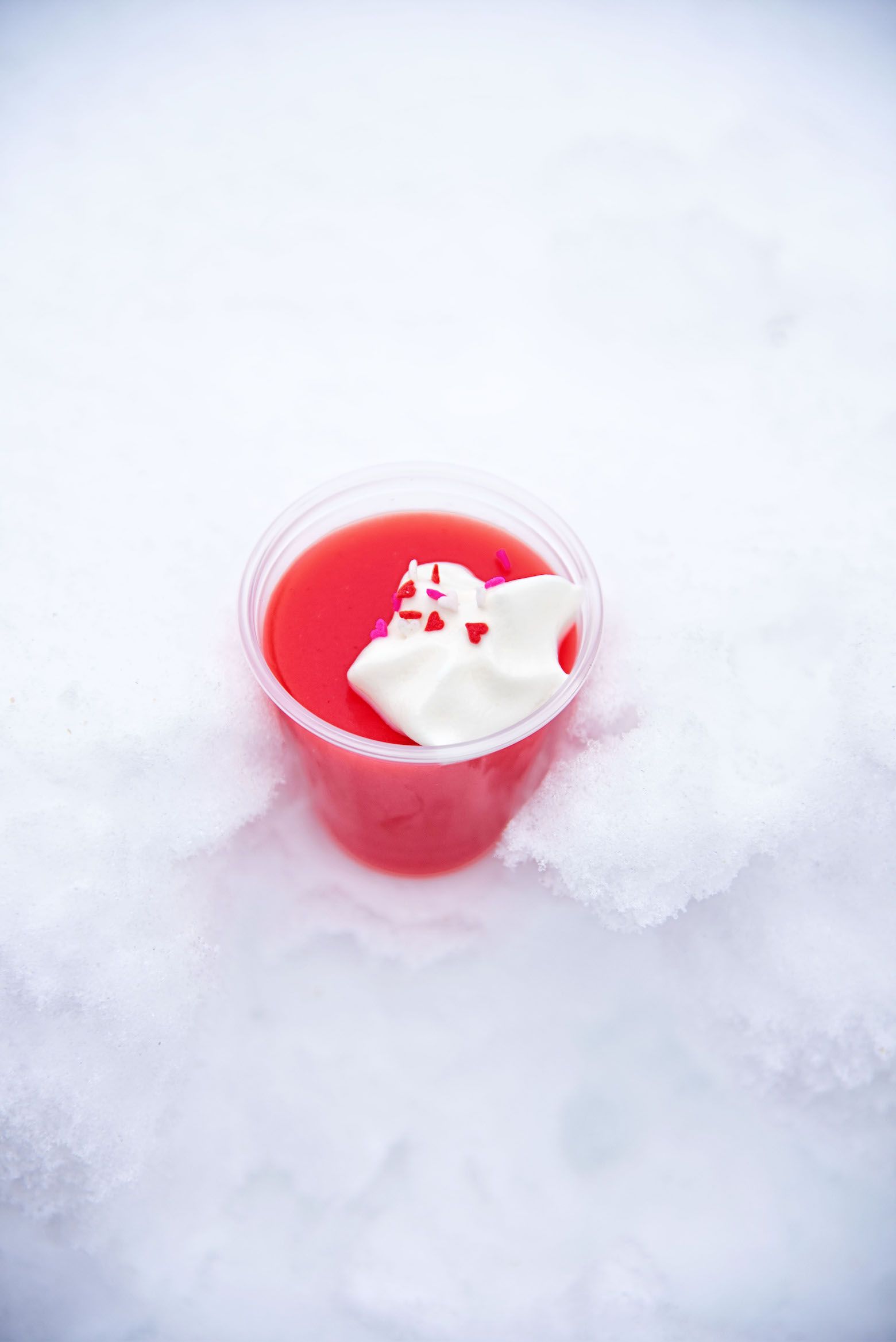 Strawberry Malted Milk Jell-O Shot