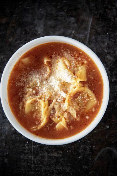 Cheese Tortellini Tomato Soup