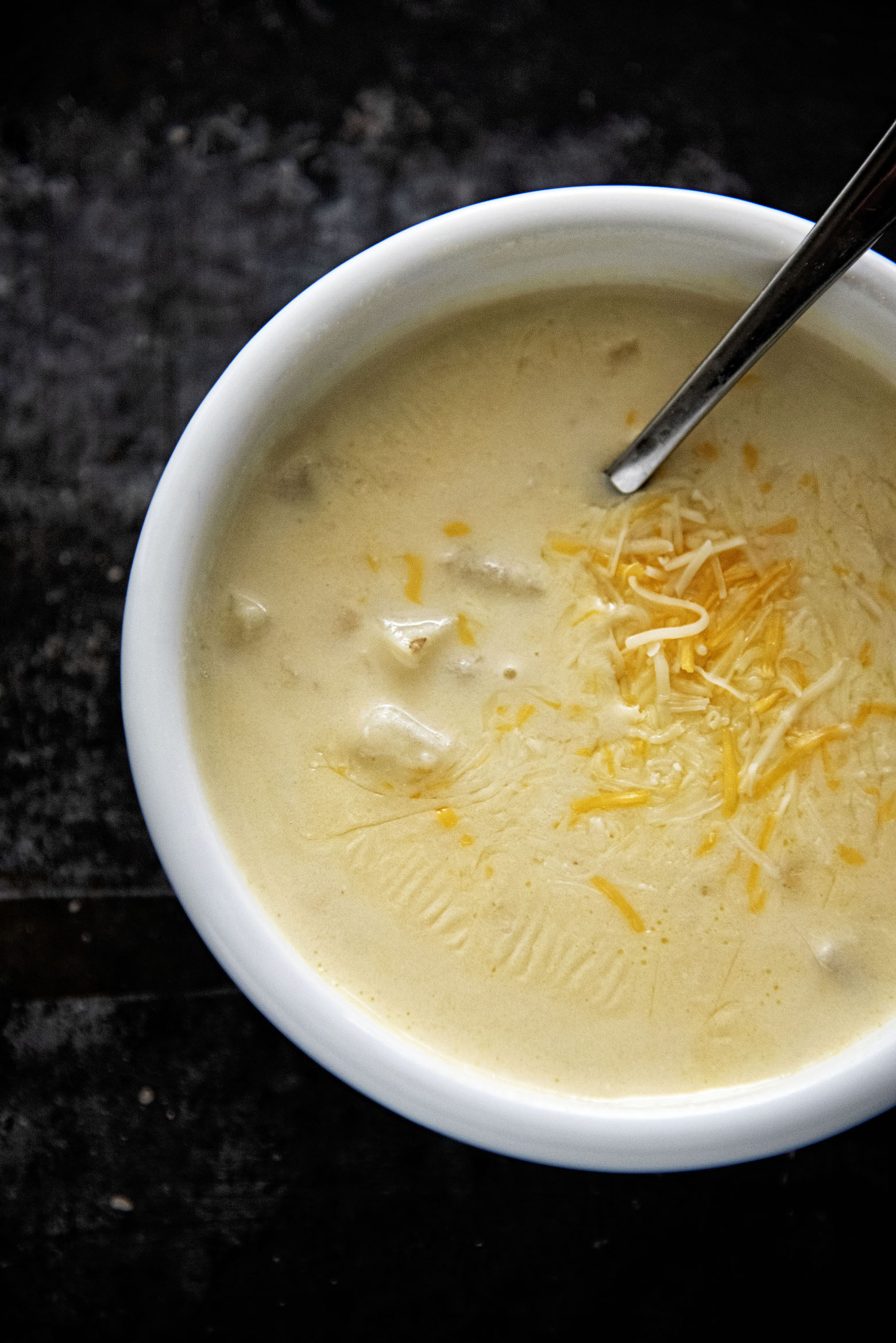 Potato Three Cheese Soup