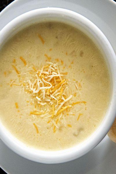 Potato Three Cheese Soup