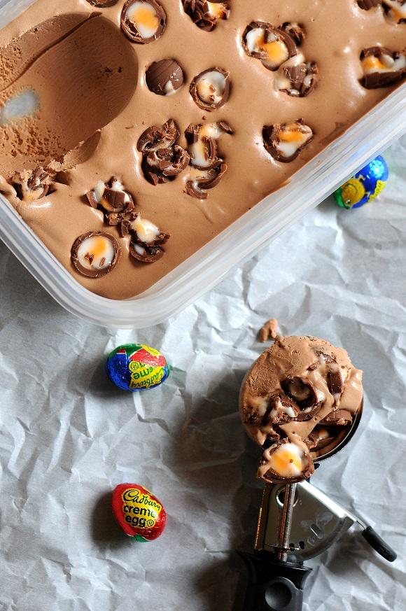 Cadbury Crème Egg Ice Cream