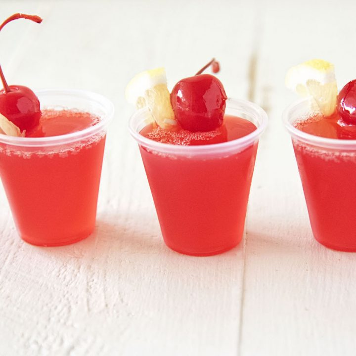 Cherry Lemonade Jell-O Shot