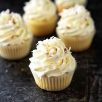 Key Lime Toasted Coconut Cupcakes
