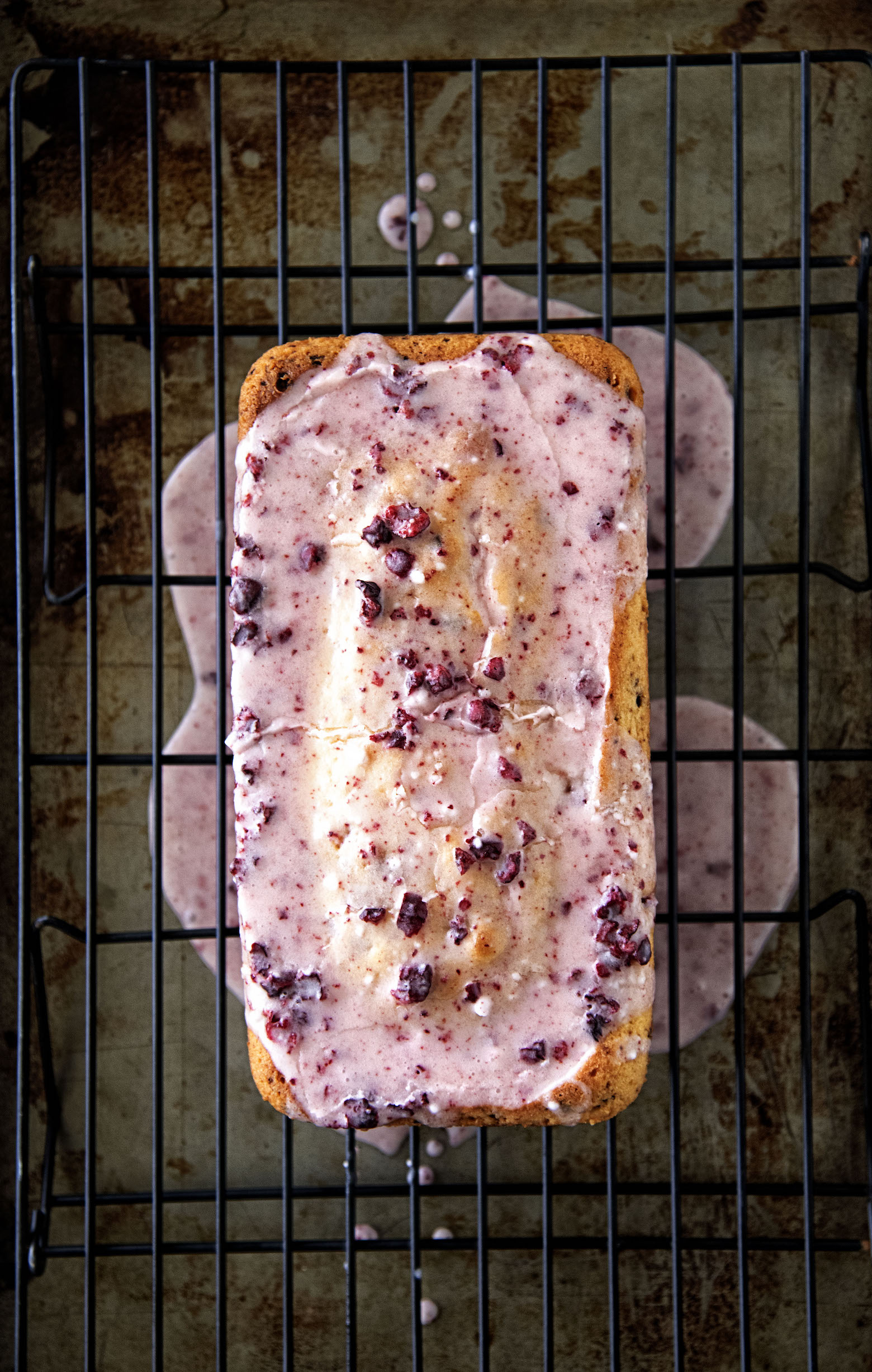 Lemon Cherry Loaf Cake