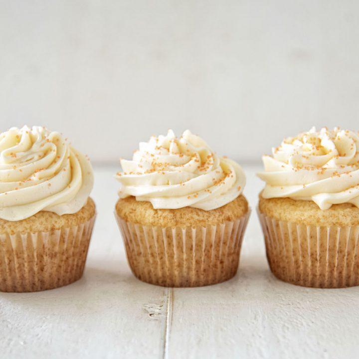 Orange Sherbet Cupcakes