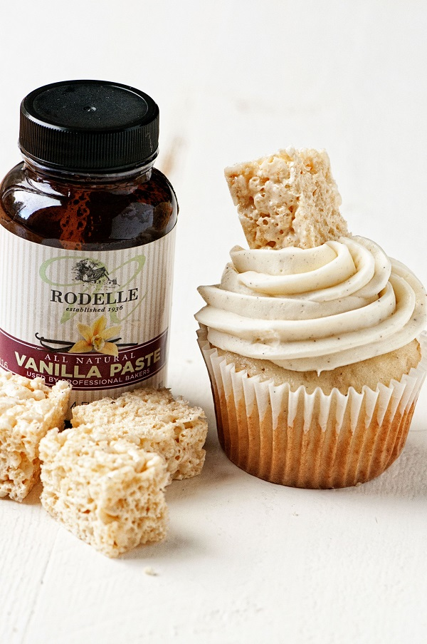 Vanilla Bean Rice Krispie Treat Cupcakes