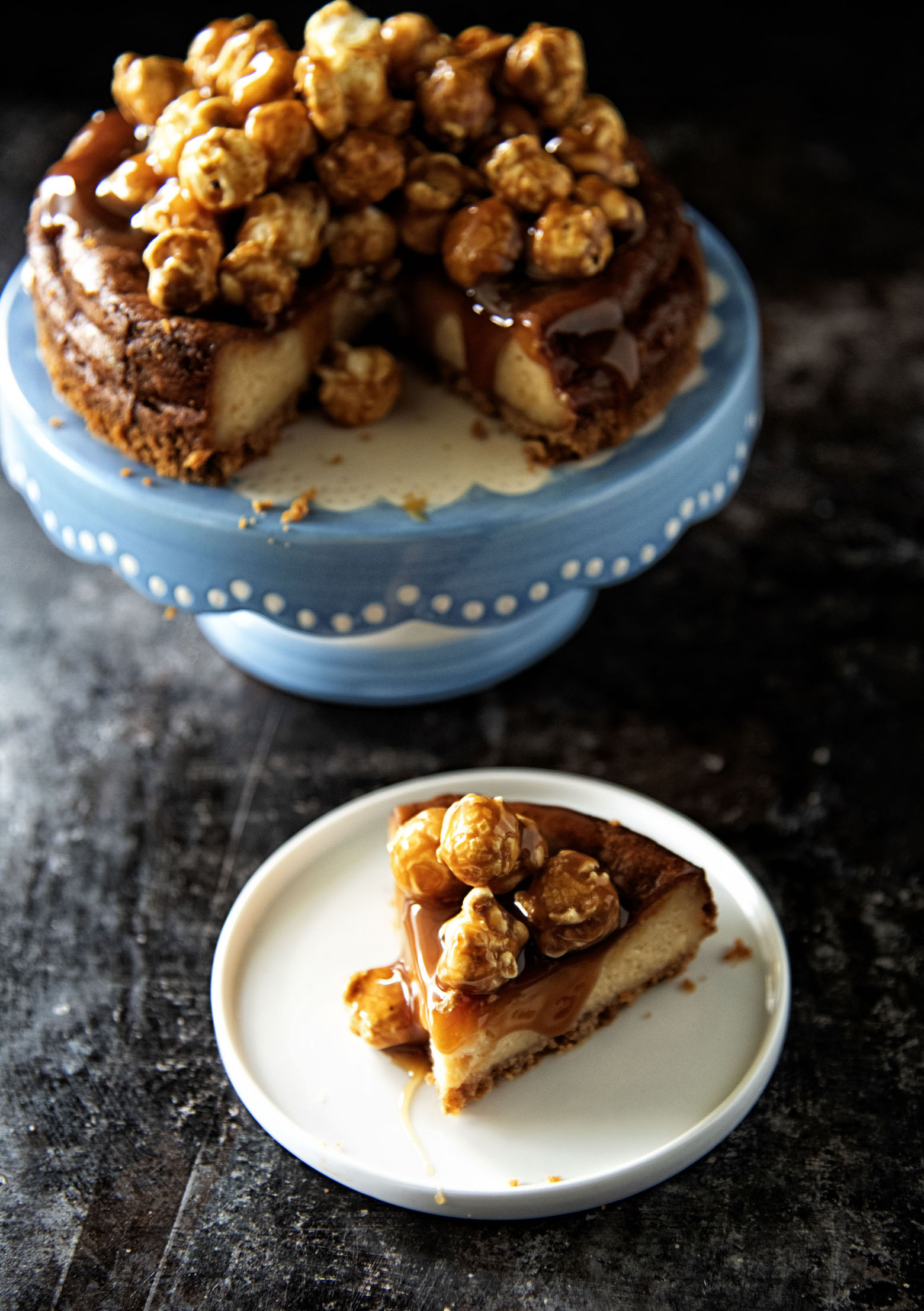 Caramel Corn Cheesecake