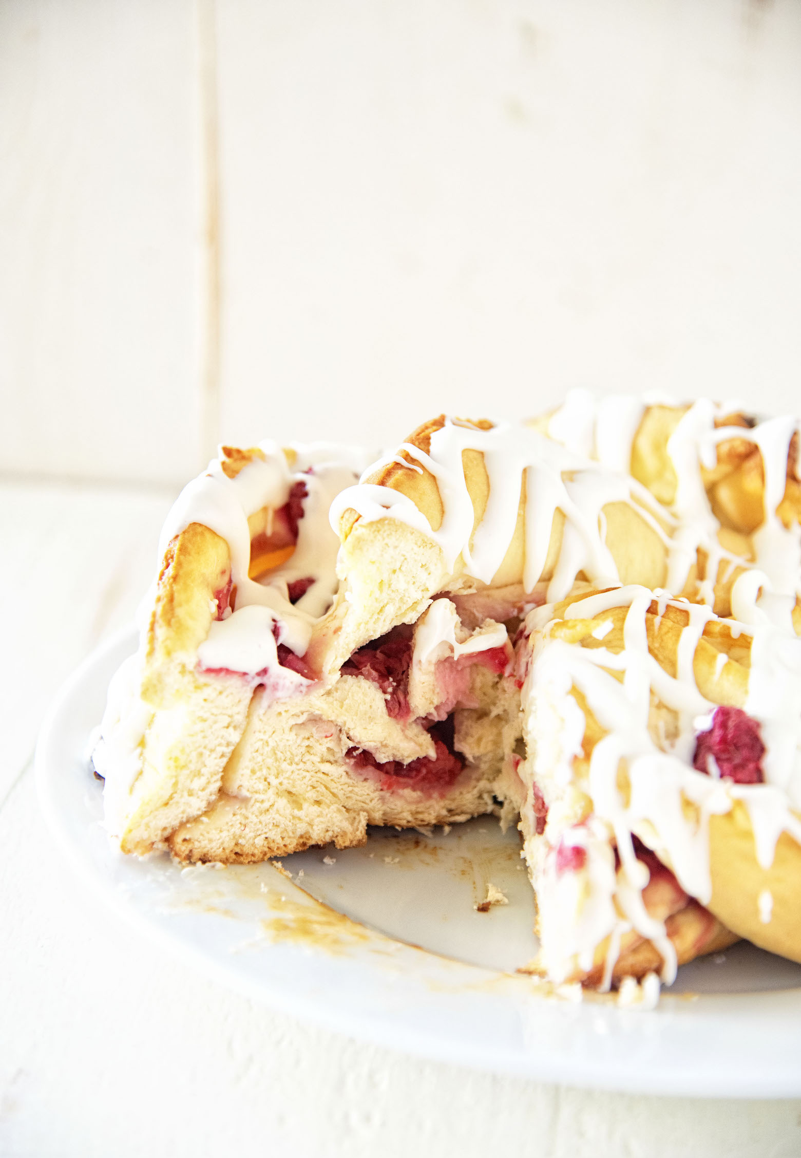 Honey Raspberry Coffee Cake