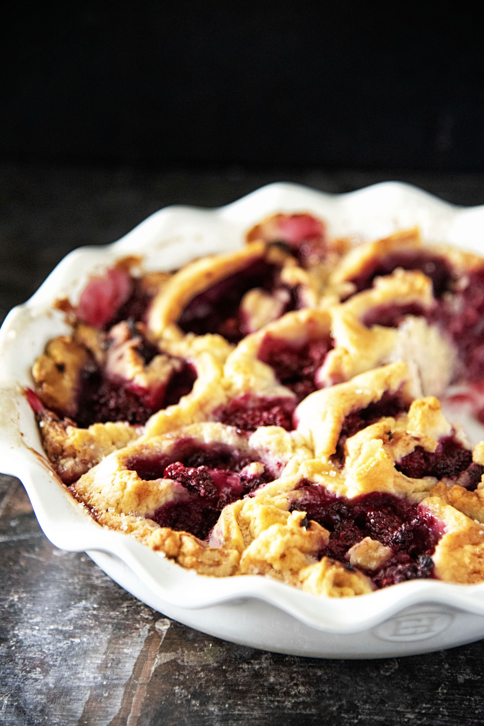Tayberry Biscuit Cobbler