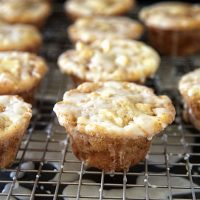 Cider Glazed Apple Fritter Muffins