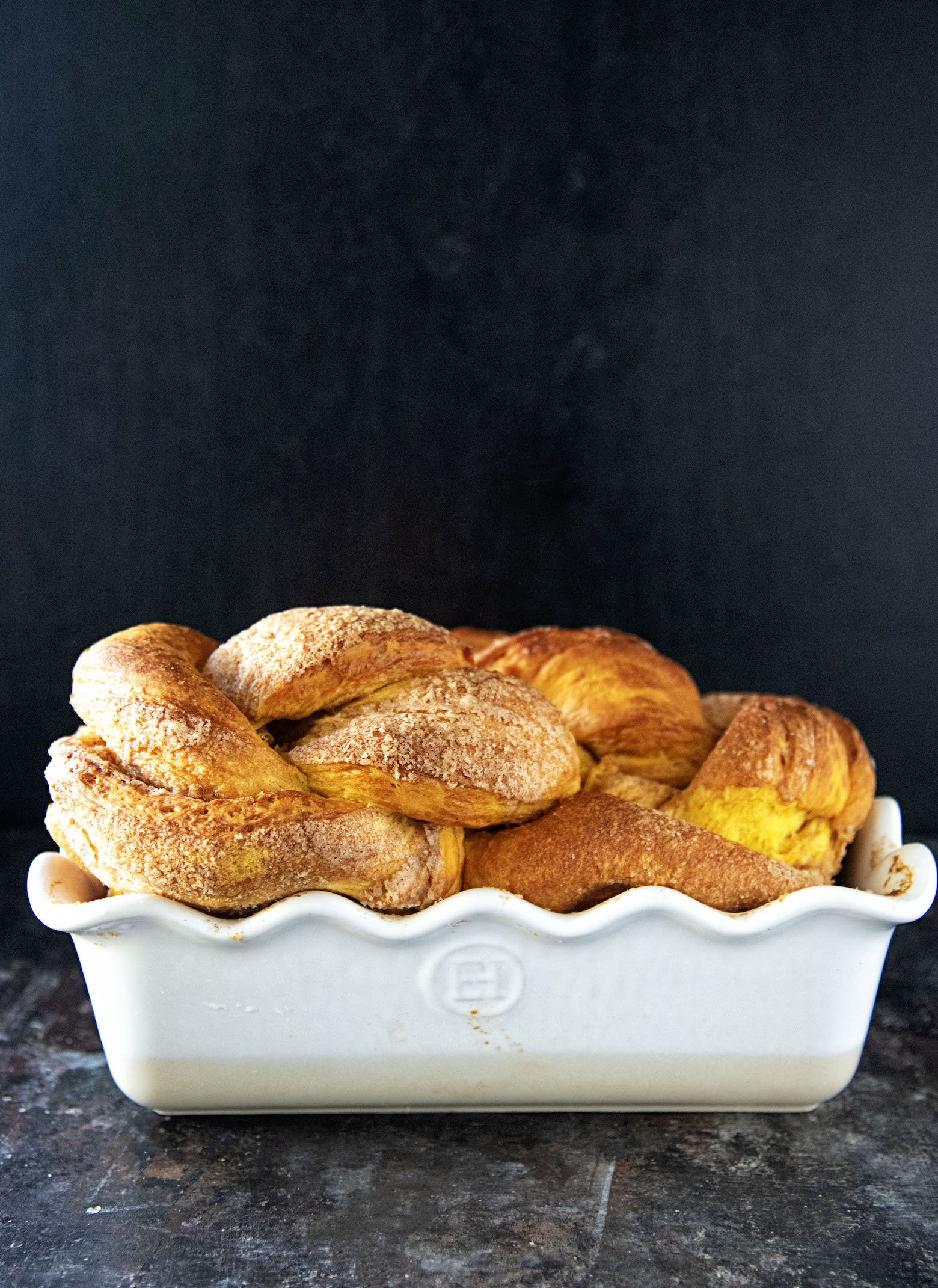 Cinnamon Sugar Pumpkin Brioche Twist