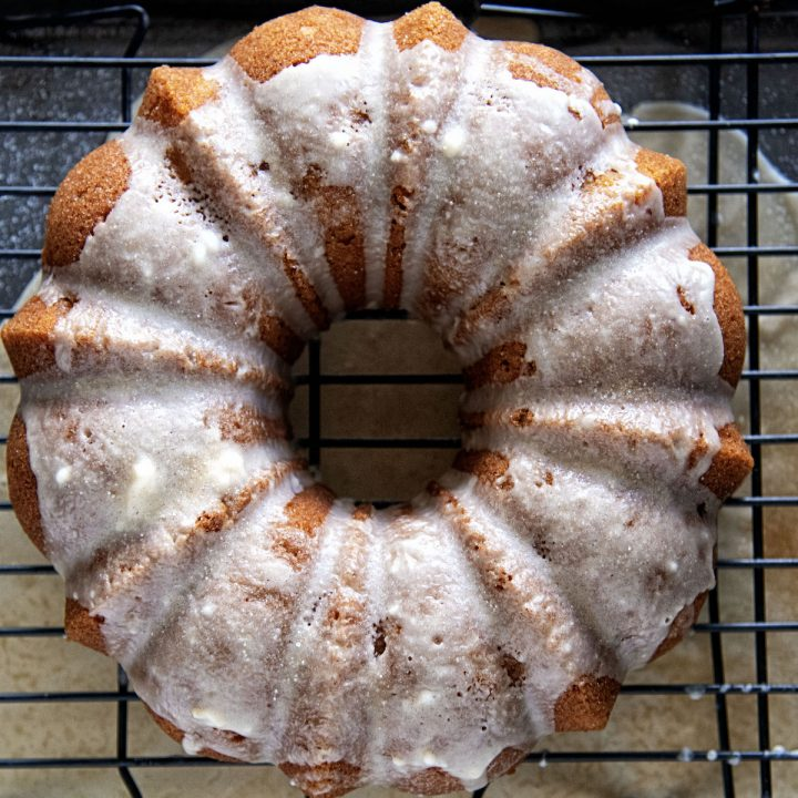 Glazed Apple Cider Donut Cake