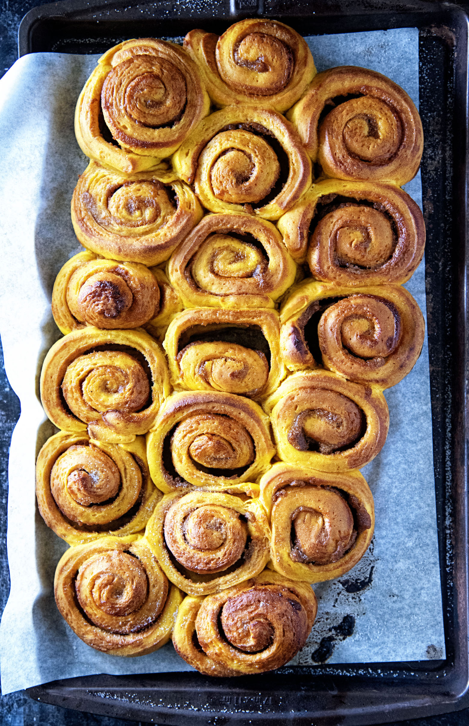 Maple Glazed Pumpkin Pie Cinnamon Roll Loaf